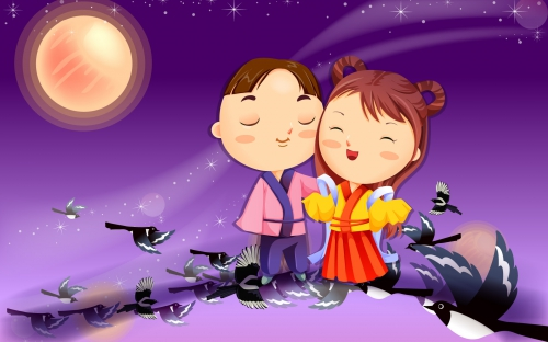 Romantic Vector Cartoons (40 wallpapers)